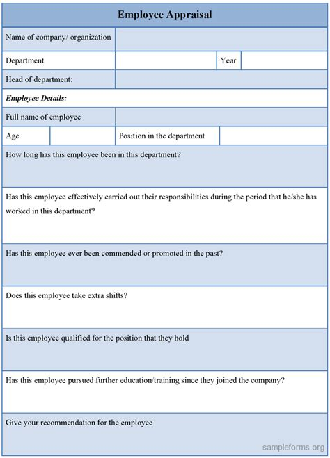 Employee Evaluation Form Sle Doc Free Resume Sles Performance Appraisal Phrases This Office Performance Appraisal Template