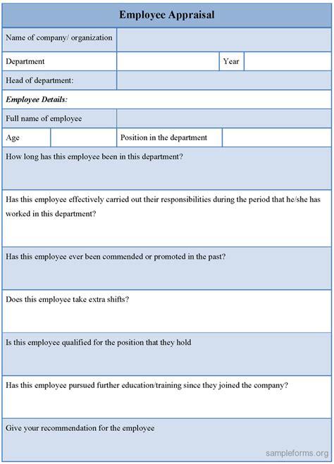 employee evaluation form sle doc free resume sles