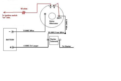 one wire alternator wiring diagram one free engine image