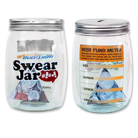Bud Light Glass Piggy Bank Swear Jar