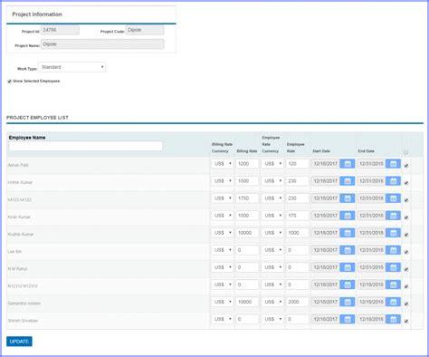 employee rate work type setup officetimer