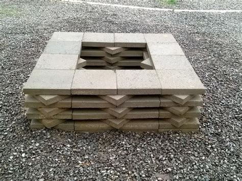 How To Build A Firepit With Pavers 12 Best Images About Paver Pits On Pinterest Pit Patio Pits And Pit Designs