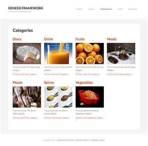 category images grid template in genesis sridhar katakam