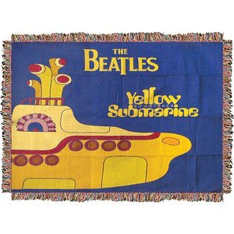 yellow submarine rug beatles woven throw blankets the beatles yellow submarine throw rug
