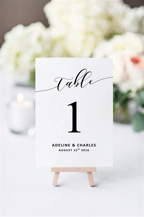 table numbers for wedding reception templates best 25 wedding table numbers ideas on table
