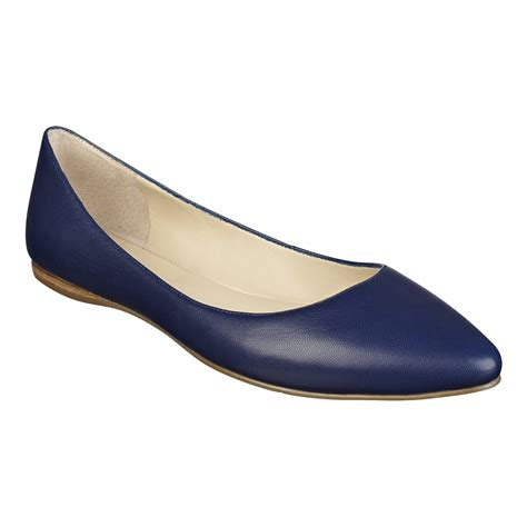 navy shoes flats nine west speakup pointed toe flats in blue navy leather