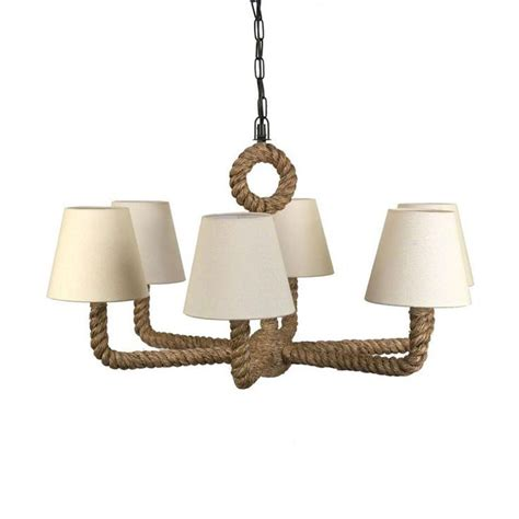 Rope Chandelier Nautical Rope Chandelier