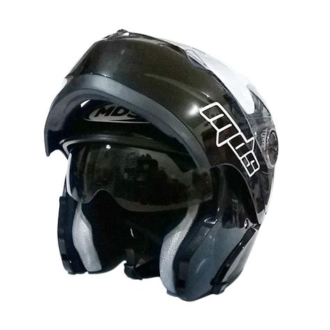 Jual Helm Mds Prorider Flip Up Black jual mds pro rider helm modular black metalik