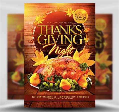 Thanksgiving Night Flyer Template Flyerheroes Free Printable Thanksgiving Flyer Templates