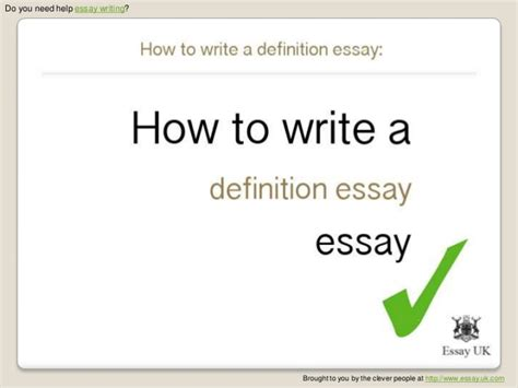 How To Write Definition Essay by How To Write A Definition Essay