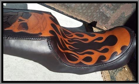 Leather Motorcycle Seat Upholstery by 1st Tooled Leather Motorcycle Seat Leather Work