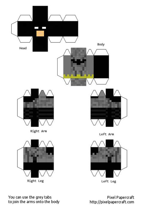 Papercraft Batman - papercraft batman original minecraft