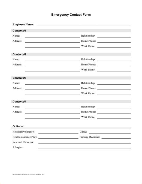 contact sheet template contact info sheet template expenditure report template