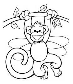 Descarga E Imprime Estos Dibujos Para Colorear Mono De Forma Gratuita  sketch template