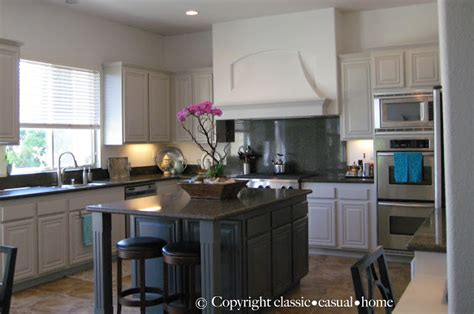 painted kitchen cabinets before after classic casual home painted kitchen cabinets before