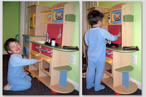 boys play kitchen tykes