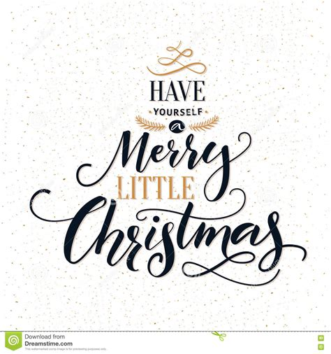 merry  christmas typography greeting card  ornate modern calligraphy