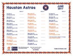printable 2017 houston astros schedule