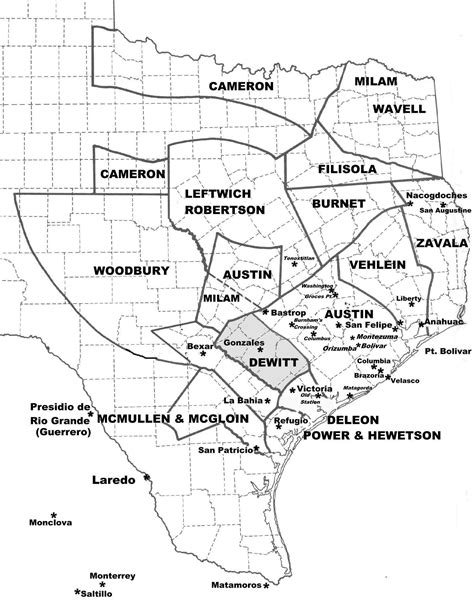 texas land grants map map showing texas land grants