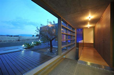 exterior modern home terrace wooden design olpos design