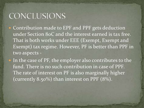 interest on ppf is exempt under which section ppt on epf act 1952