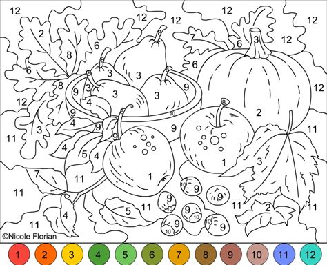 s free coloring pages color by number autumn colors