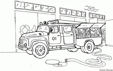 coloring pages rescue vehicles coloring page fire truck scania