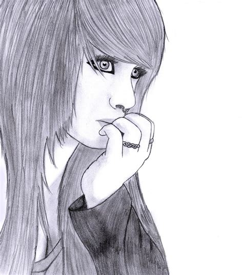 emo hairstyles drawing scene girl drawing 5 by conor332211 deviantart com on