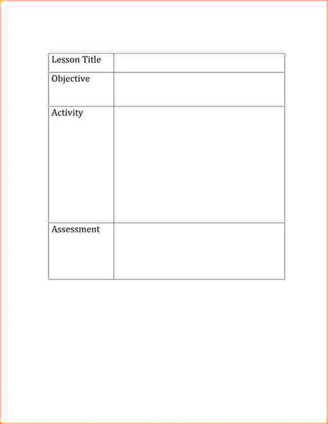 libro basics design format 5 basic lesson plan template bookletemplate org