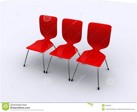 Row Of Chairs by Three Chairs In A Row Stock Photography Image 4646232