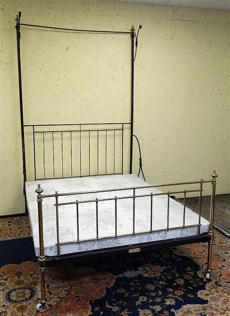 victorian canopy bed a victorian brass and iron half tester canopy bed bears p
