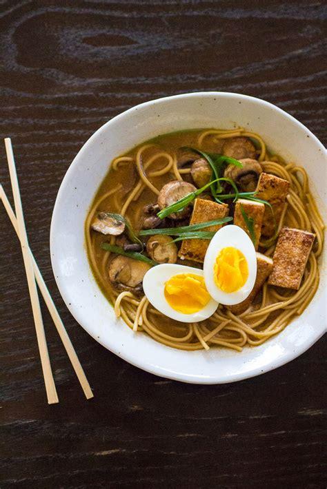 vegetarian ramen noodle bowl  curvy carrot
