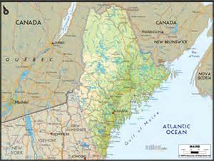 Maine Usa Map by Portaportal Com