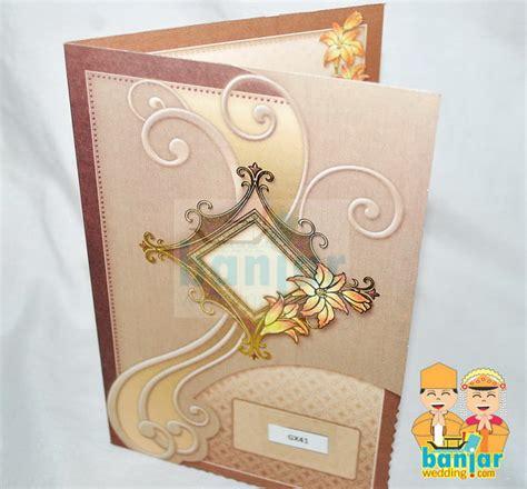 Wallpaper Batik Simpel Coklat Gold Krem Merah undangan pernikahan murah ub gx31 banjar wedding