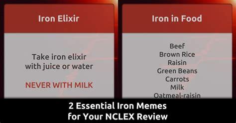 Nclex Meme - 2 essential iron memes for your nclex review qd nurses