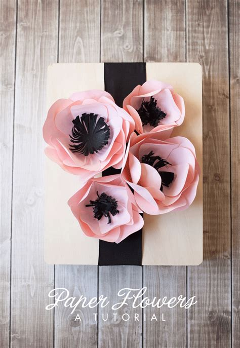 How To Make A Flower Out Of Wrapping Paper - paper flower tutorial paper flower tutorial flower
