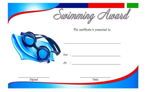 swimming certificates templates swimming certificate template 9 the best template collection