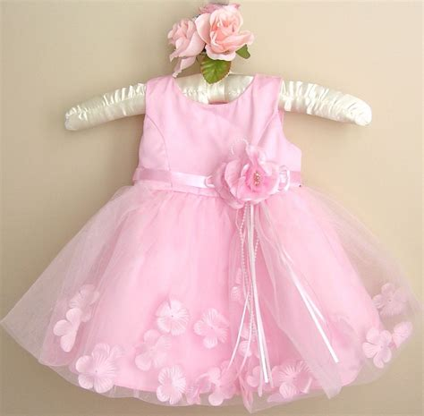 Dress Baby 02 Bunga Pink baby pink dress baby pink baptism christening wedding flower dress ebay