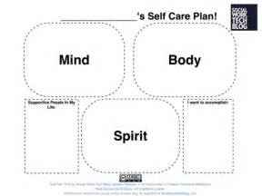 self care plan template self care worksheets abitlikethis