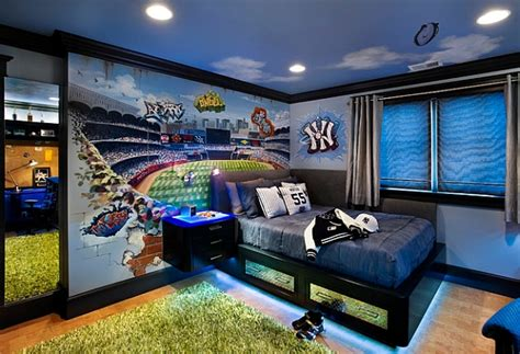sports bedroom wallpaper wall murals decals sports themed interiors