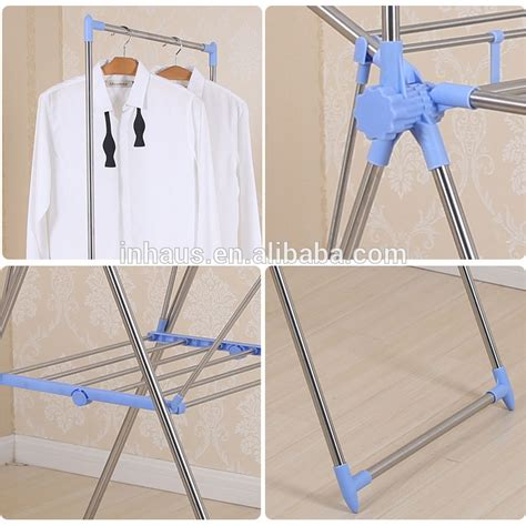 Plastic Clothes Drying Rack by Multifunctional Adjustable Style And Stainless Steel