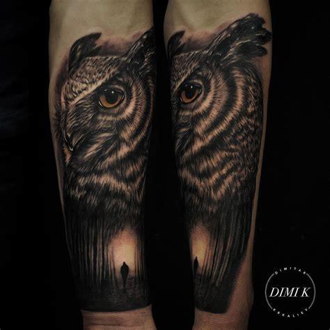 owl shoulder tattoo flowers and owl shoulder tattoos