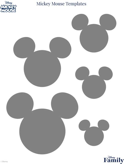 mickey mouse shape template mickey mouse template disney family