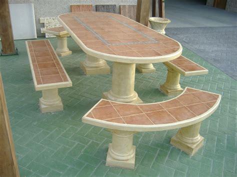 mesa piedra jardin mesas y bancos para jardines prefabricados piedra