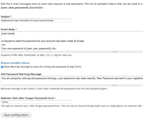 Request Letter User Id Password Recovery Password Email New Password Drupal Org