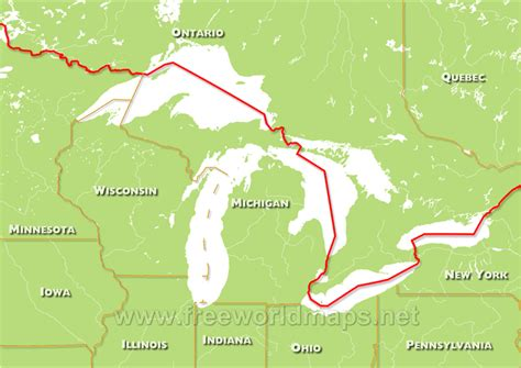 map of united states with great lakes great lakes maps