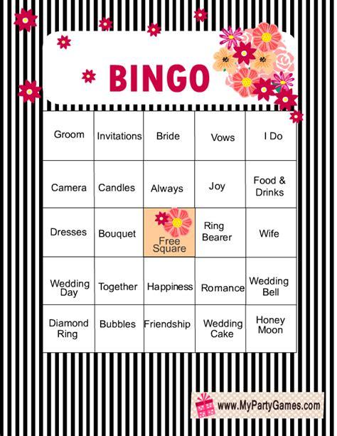 printable wedding shower bingo game free printable bridal shower bingo game cards