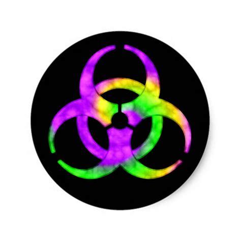 Biohazard 01 Sticker acid spiral biohazard symbol sticker zazzle