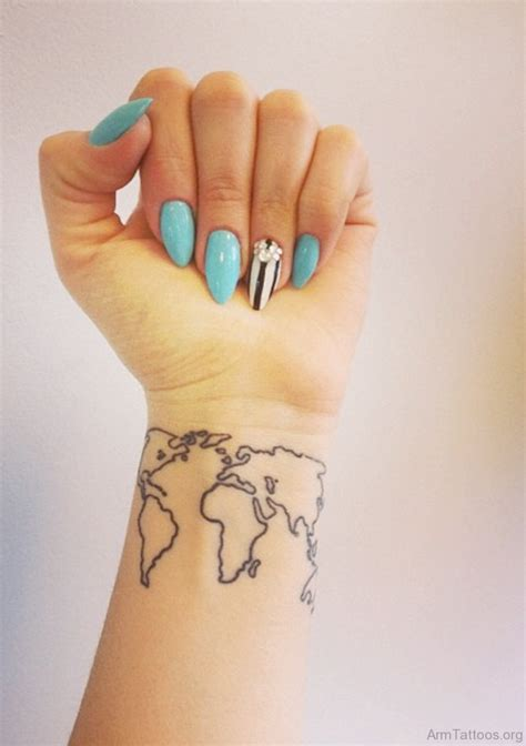 world wrist tattoo world map wrist nextread me