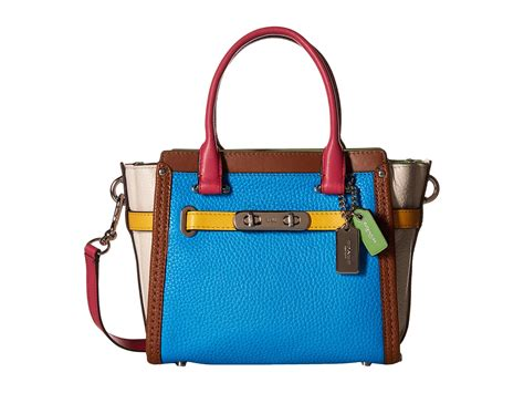 Coach Swagger Rainbow 33 coach rainbow color block coach swagger 21 zappos free shipping both ways